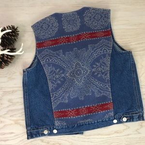 Pendleton Wool Back Denim Vest M